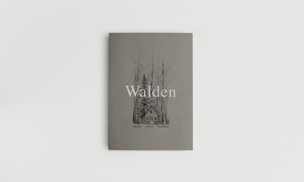 Ilustración editorial y dibujos para portadas de libro, Walden de Harry David Thoreau