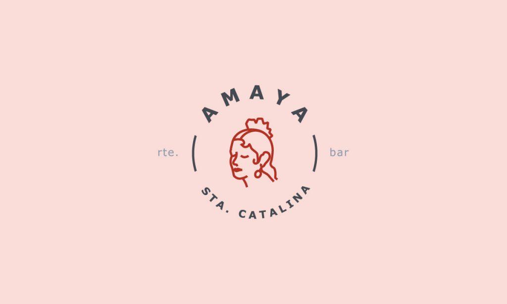 Ilustración para logotipo del restaurante Amaya en Palma de Mallorca