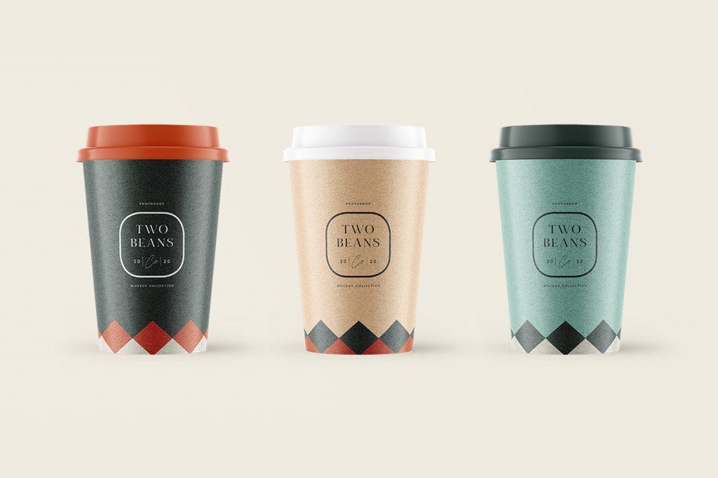 Taza o vaso de café para llevar, mockup gratis